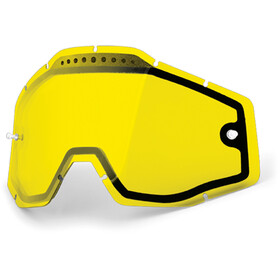 100% Vented Dual Replacement Lenses, dual yellow / clear